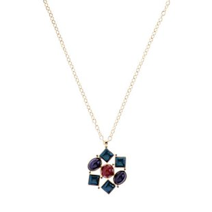 Mosaic Silver Jewel Necklace by L.K.Bennett