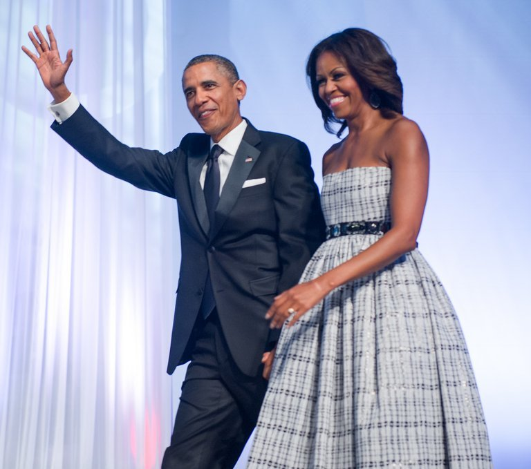 US President Barack Obama and First Lady Michelle, pictured in Washington, DC on September 21, 2013