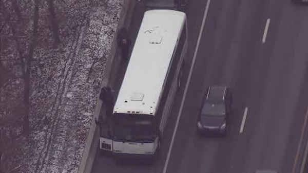 Charter bus causes chain reaction crash on I-76