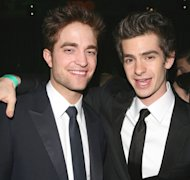 Robert Pattinson and Andrew Gardield attend HBO's 68th Annual Golden Globe Awards Official After Party held at The Beverly Hilton hotel in Beverly Hills, Calif. on January 16, 2011 -- Getty Premium