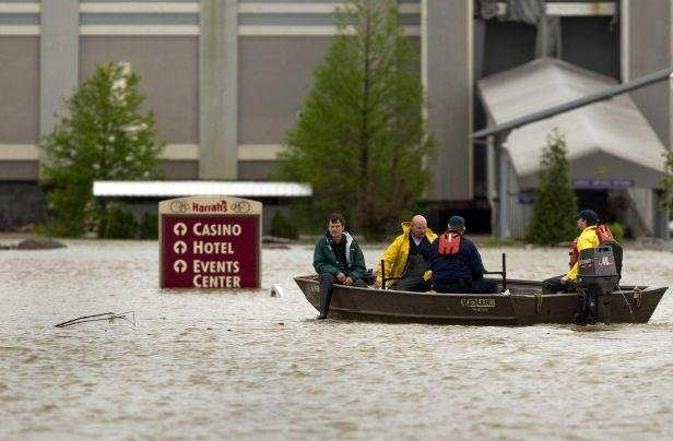 Des inondations ont touch la ville de Metropolis (Illinois), aux Etats-Unis, le 27 avril 2011