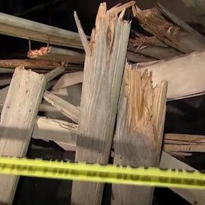 Deck collapse during family photo critically injures two