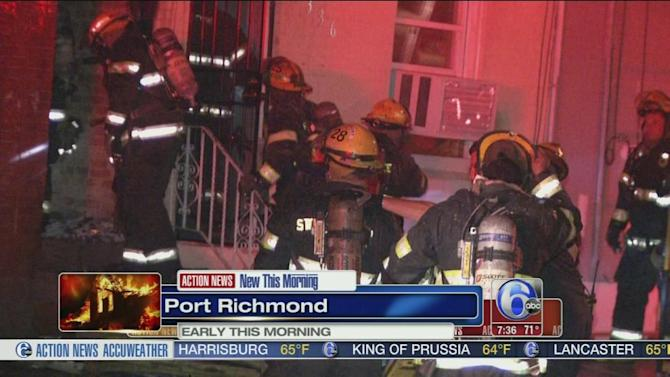 Flames force family from home in Port Richmond