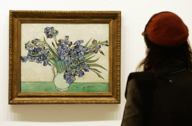 &amp;quot;Irises&amp;quot; by Vincent van Gogh, 	sold for $53.9 million in 1987.