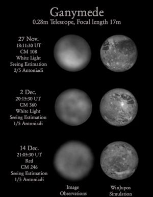 Jupiter's Big Moon Ganymede Mapped by Amateur Astronomer