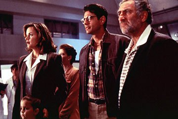 Margaret Colin , Jeff Goldblum and Judd Hirsch in 20th Century Fox's Independence Day