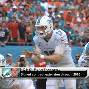 Miami Dolphins quarterback Ryan Tannehill signs contract extension, San Francisco 49ers defensive lineman Justin Smith announces retirement