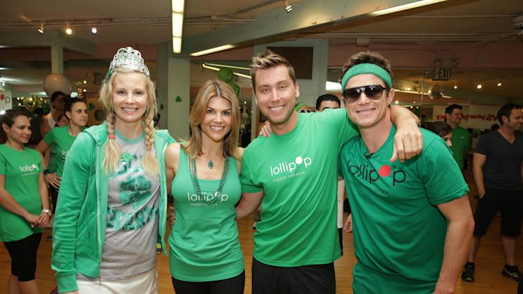 Monica Potter, Lori Loughlin, Lance Bass and Billy Bush at St. Patty's Day Slimdown benefiting the Lollipop Theatre Network held at Slimmons on Sunday, Mar., 17, 2013 in Beverly Hills, CA. (Photo by Eric Charbonneau/Invision for Lollipop Theatre Network/AP Images)
