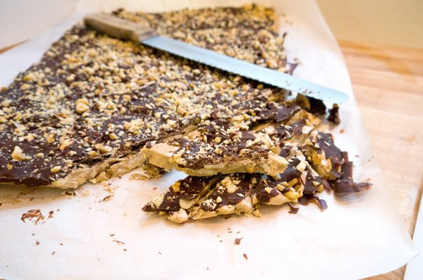 Salted Chocolate Peanut Toffee