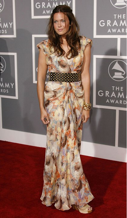 Mandy Moore at The 49th Annual Grammy Awards. 