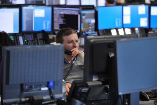 <p>Brokers monitor market movements at the BGC Partners in London. Europe's main stock markets mostly rose despite news of falling German investor confidence, as investors awaited US Federal Reserve Chairman Ben Bernanke's appearance before Congress.</p>