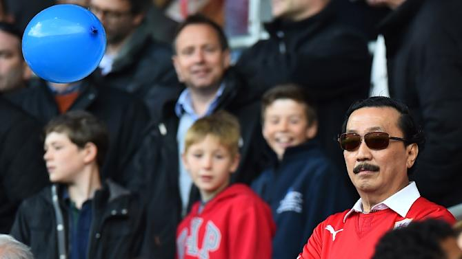 Cardiff City's Malaysian owner Vincent Tan, pictured on May 11, 2014, decided to take matters into his own hands with a training ground tirade