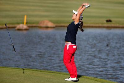 LPGA golfer holes out TWICE for walk-off win from the fairway