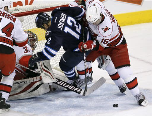 Byfuglien scores in OT to lift Jets over 'Canes