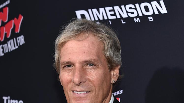 "Michael Bolton arrives at the ""Sin City: A Dame to Kill For"" premiere presented by Dimension Films in partnership with Time Warner Cable, Dodge and DeLeon Tequila at TCL Chinese Theatre on Tuesday, August 19, 2014, in Los Angeles. (Photo by John Shearer/Invision for The Weinstein Company/AP Images)"
