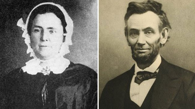 Mary Owens, left, and President Lincoln 