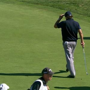 Phil Mickelson drains 32-foot chip shot for the Shot of the Day