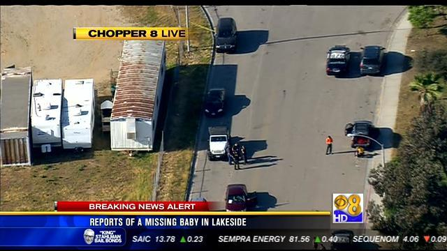 Search for missing baby in Lakeside