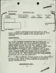 FILE - This file copy of a document, obtained by The Associated Press through the Freedom of Information Act, from playwright Arthur Miller&#39;s FBI file, shows an FBI report stating, that &quot;the New York Daily News received an anonymous telephone call&quot; on July 3, 1956. The caller, &quot;an unidentified male,&quot; stated that &quot;Arthur Miller had been and still was a member of the CP (Communist Party) and was their cultural front man&quot; and that (his wife) &quot;Marilyn Monroe&quot; also &quot;had drifted into the Communist orbit.&quot; The file revealed that Miller had been the subject of FBI surveillance for a long time. In late 2012, the FBI has released a new version of files it kept on Marilyn Monroe that reveal the names of some of her acquaintances who had drawn concern from government officials and members of her entourage over their suspected ties to communism. (AP Photo/FBI, File)