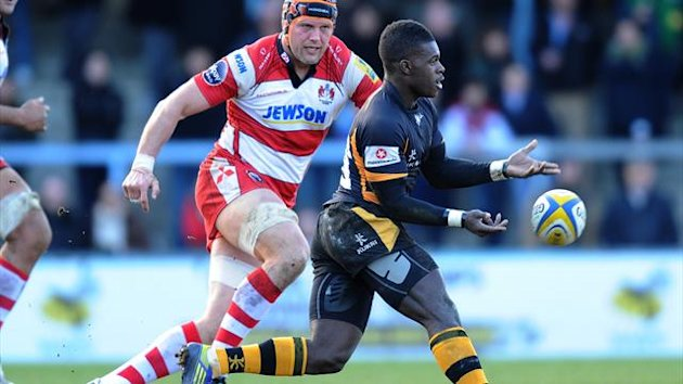 Wasps&#39; Christian Wade in action against Gloucester on February 17