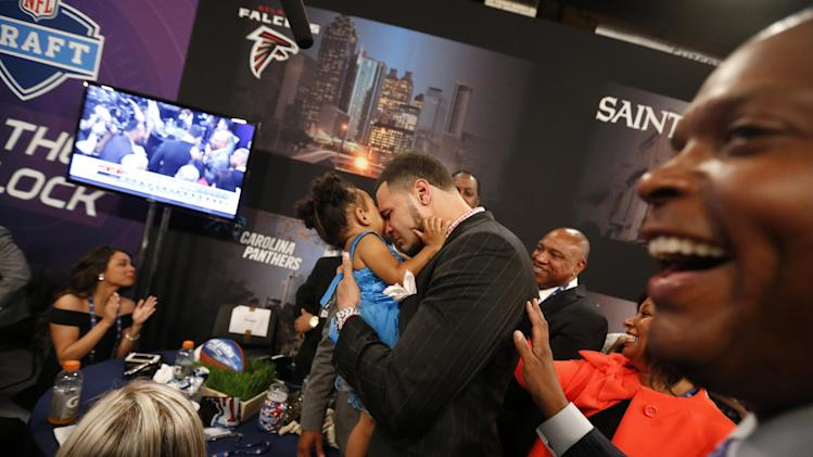 AP PHOTOS: Behind the scenes at the NFL Draft