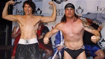 ral MP Justin Trudeau defeated Conservative Senator Patrick Brazeau in a charity boxing match that raised funds for the fight against cancer