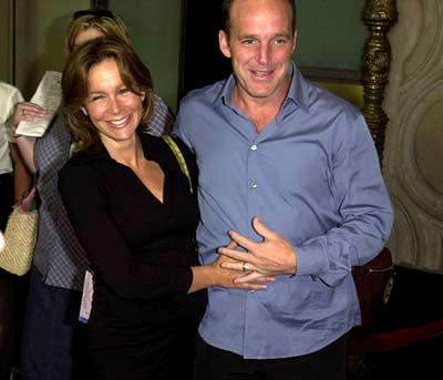 Jennifer Grey and Clark Gregg at the Hollywood premiere of Touchstone's Bubble Boy