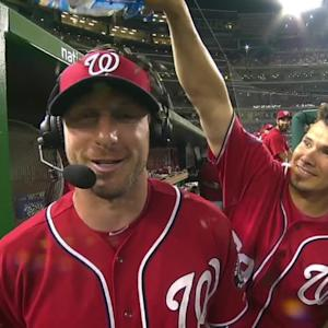 Scherzer chats, gets messed with