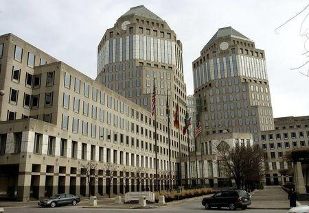 Procter & Gamble's corporate headquarters is seen in Cincinnati, Ohio, January 28, 2005. [P & G anno..