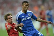 Chelsea defender Ryan Bertrand (right) vies for the ball with Bayern Munich&#39;s Philipp Lahm during their UEFA Champions League final football match on May 19. Chelsea stars Frank Lampard and John Terry have heaped praise on Bertrand after the 22-year-old made his Champions League debut
