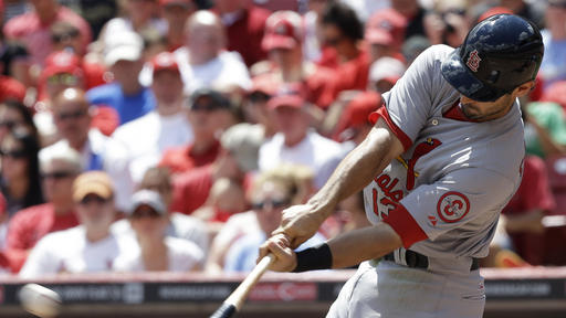 Cardinals drub Reds 15-2, end trip on upswing