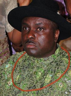 File photo of former governor of Nigeria's Delta state James Ibori attending a social function in Lagos