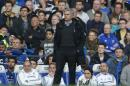Chelsea manager Jose Mourinho watches the English Premier League soccer match against Sunderland at the Stamford Bridge ground in London, Saturday, April 19, 2014. Sunderland won the match 2-1. (AP Photo/Lefteris Pitarakis)