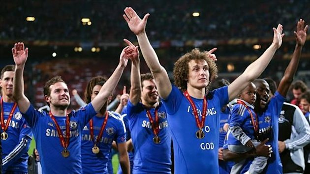 Juan Mata, second left, and David Luiz, second right, are not on Chelsea's pre-season tour