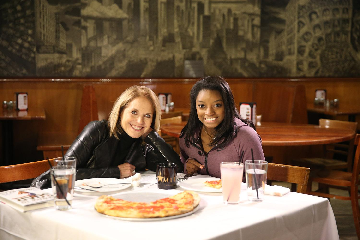 Katie Couric interviews Olympic gold medalist Simone Biles