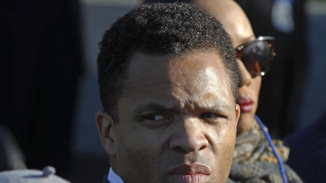 FILE - In this Oct. 16, 2011 file photo, Rep. Jesse Jackson, Jr., D-Ill., is seen during the dedication of the Martin Luther King Jr. Memorial in Washington. When Jackson disappeared on a mysterious medical leave in June 2012, it took weeks for anyone in Washington to notice. Jackson has never lived up to the high expectations on the national stage. But none of that seems to matter in his district, where he's brought home close to $1 billion in earmarks and other funding and won every election since 1995 in a landslide, despite nagging ethical questions over links to imprisoned former Gov. Rod Blagojevich. The dual roles could help explain why the Democrat has given so few details of his medical leave. (AP Photo/Charles Dharapak, File)