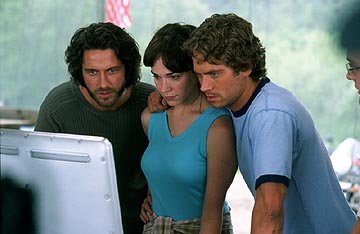 Gerard Butler , Frances O'Connor and Paul Walker in Paramount's Timeline