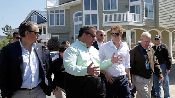 Prince Harry tours storm-damaged New Jersey shore