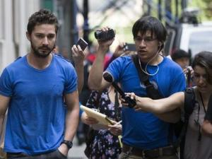 Actor Shia LaBeouf walk as he leaves Midtown Community Court in New York