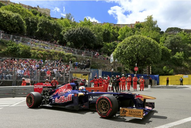 Toro Rosso Formula One driver Jean-Eric Vergne of France drives during the third practice session of the Monaco F1 Grand Prix
