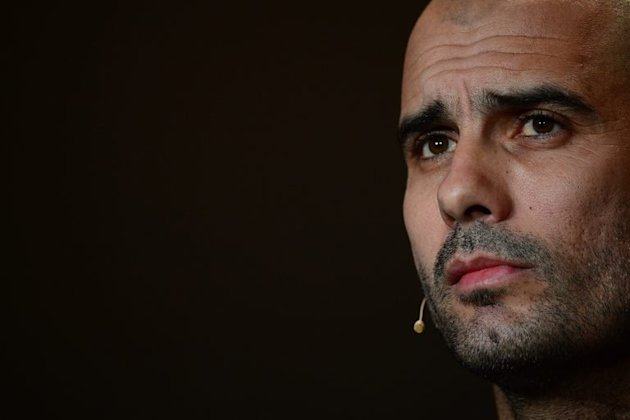 Pep Guardiola during a press conference in Zurich on January 7, 2013