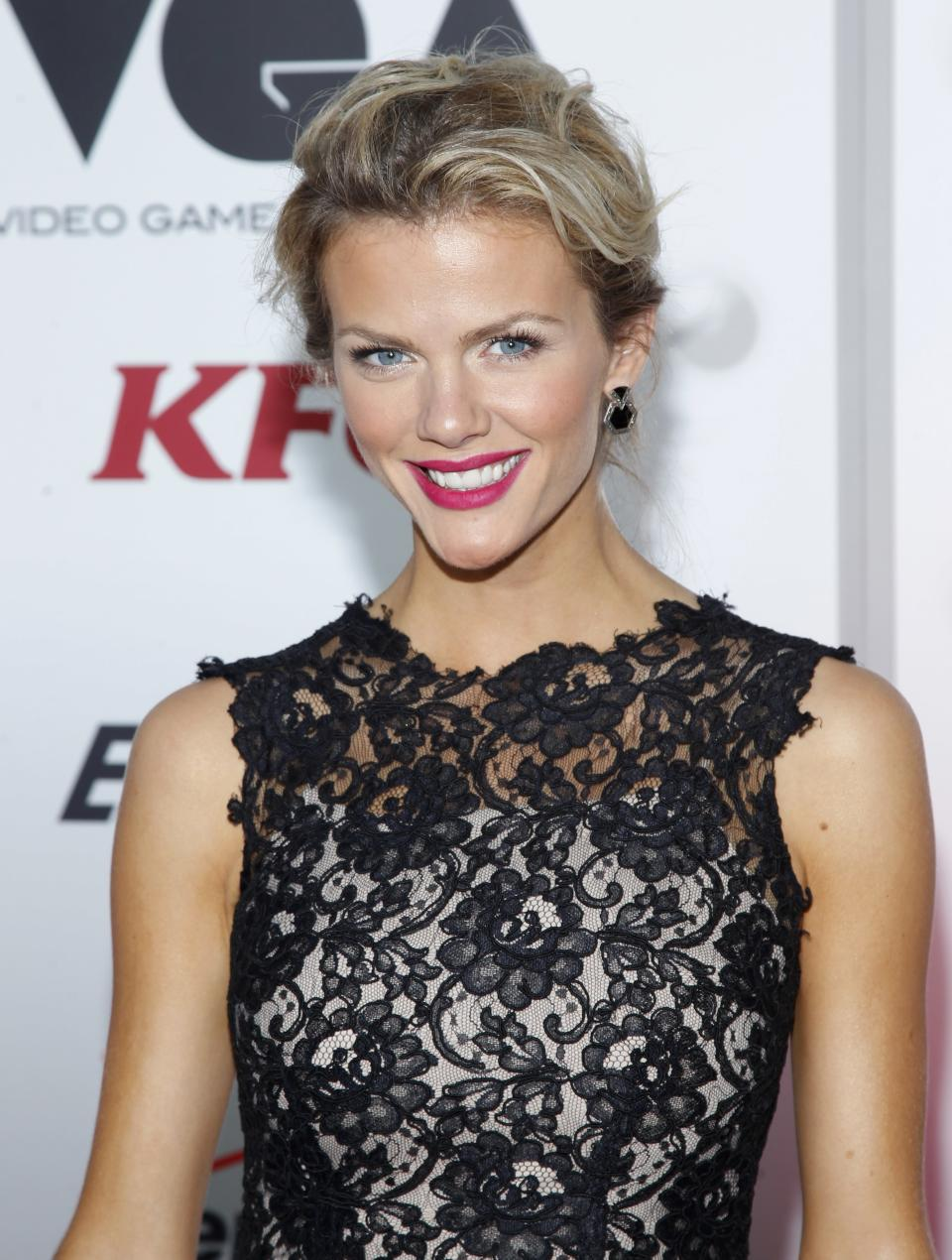 Brooklyn Decker arrives at Spike TV's Video Game Awards on Saturday, Dec. 10, 2011, in Culver City, Calif. (AP Photo/Joe Kohen)