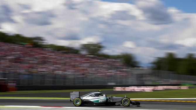 Mercedes Formula One driver Rosberg of Germany takes a corner during qualifying for the Italian F1 Grand Prix in Monza
