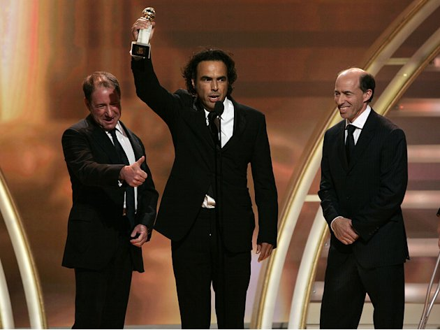 "Alejandro Gonzalez Inarritu wins for Best Motion Picture, ""Babel"" at the 64th annual Golden Globe Awards."