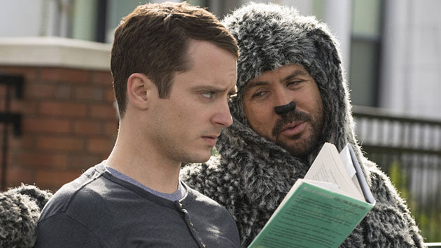 "Elijah Wood as Ryan and Jason Gann as Wilfred in the ""Wilfred"" Season 3 episode, ""Sincerity."""