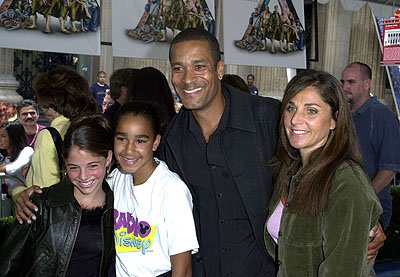 Premiere: Phil Morris and family at the Los Angeles premiere of Disney's Atlantis: The Lost Empire - 6/6/2001
