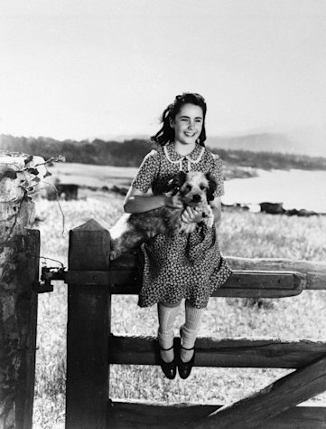 "FILE - This file photo shows young actress Elizabeth Taylor playing a girl who wins a horse in a raffle in ""National Velvet,"" 1944. (AP Photo, File)"