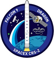 SpaceX's CRS-2 mission patch for the March 2013 flight to the International Space Station.