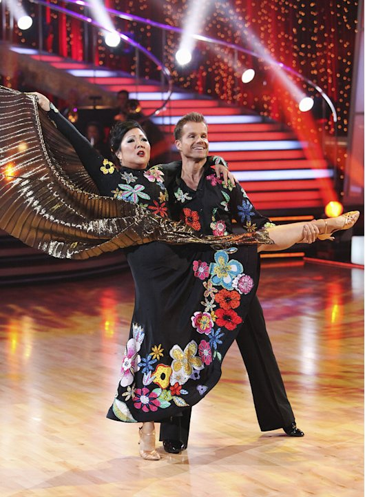 "Margaret Cho and Louis Van Amstel perform on ""Dancing with the Stars."""