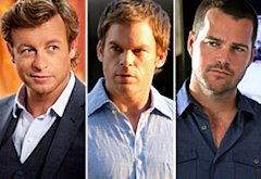 Simon Baker, The Mentalist; Michael C. Hall, Dexter; Chris O'Donnell, NCIS: LA | Photo Credits: Jaimie Trueblood/Warner Bros.; Randy Tepper/Showtime; Matt Kennedy/CBS